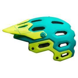 Cyklistická helma BELL Super 3 MIPS matná zelená - žlutá