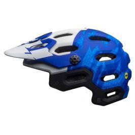Cyklistická helma BELL Super 3 MIPS matná modrá - bílá