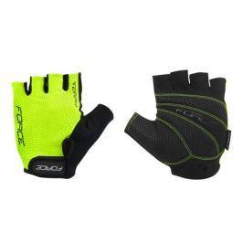 Cyklistické rukavice Force Terry fluo