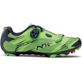 Pánské cyklistické tretry Northwave Scorpius 2 Plus zeleno-černé