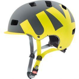 Cyklistická helma Uvex HLMT 5 PRO šedá-limetková matná