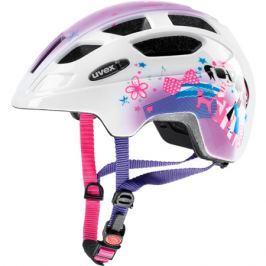 Dětská cyklistická helma Uvex Finale Junior bílo-růžová