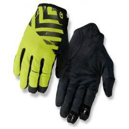 Dlouhoprsté cyklistické rukavice GIRO DND černo-limetkové