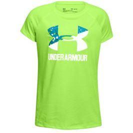 Dětské tričko Under Armour Solid Big Logo SS Lime