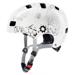 Dětská cyklistická helma Uvex Kid 3 bílá květinová