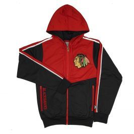 Pánská bunda s kapucí Old Time Hockey Chaser NHL Chicago Blackhawks