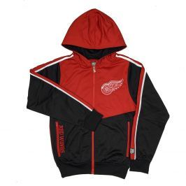 Pánská bunda s kapucí Old Time Hockey Chaser NHL Detroit Red Wings