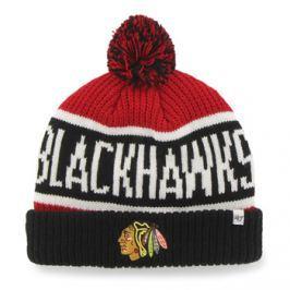 Zimní čepice 47 Brand Calgary Cuff Knit NHL Chicago Blackhawks