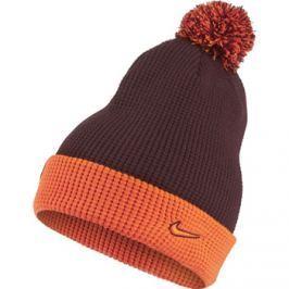 Zimní čepice Nike FC Barcelona vínovo-oranžová