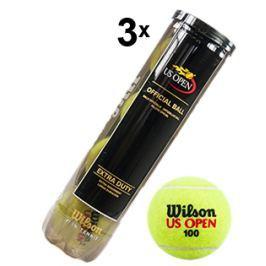 Tenisové míče Wilson US Open (3 dózy po 4 ks)