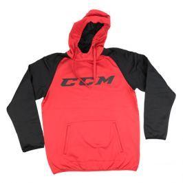 Mikina CCM Pullover Hood Red/Black SR