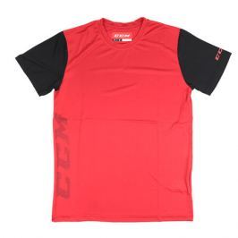Triko CCM Tech Tee Red/Black SR