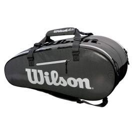 Taška na rakety Wilson Super Tour 2 Compartment Large Black/Grey