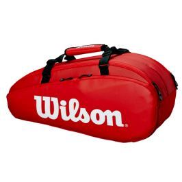 Taška na rakety Wilson Tour 2 Compartment Small Red