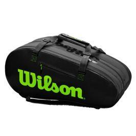 Taška na rakety Wilson Super Tour 3 Comp Charco/Green
