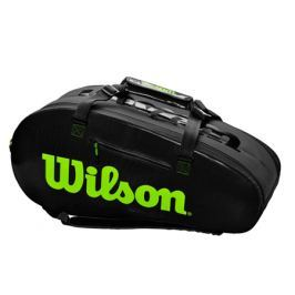 Taška na rakety Wilson Super Tour 2 Comp Large Charco/Green