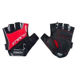 Cyklistické rukavice FORCE GRIP gel červené