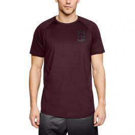 Pánské tričko Under Armour MK1 SS Logo Graphic tmavě červené