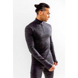 Pánské tričko Craft Fuseknit Comfort Zip LS šedé