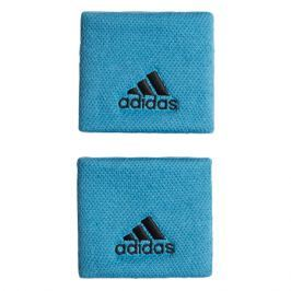 Potítka adidas Tennis Wristband Small Blue/Black (2 ks)