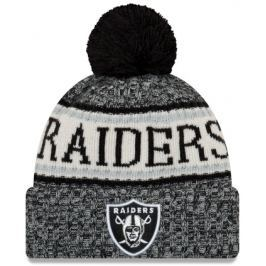 Zimní čepice New Era Bobble Knit Home NFL Oakland Raiders OTC