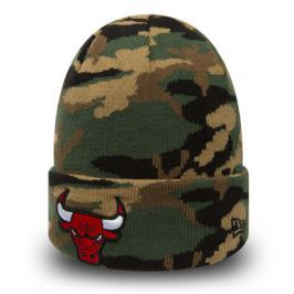 Zimní čepice New Era Essential Camo Knit NBA Chicago Bulls