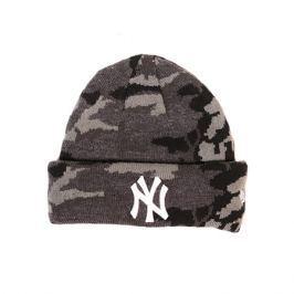 Dětská zimní čepice New Era Essential Camo Knit MLB New York Yankees Midnite Camo/White