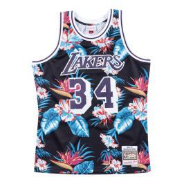 Dres Mitchell & Ness Floral Swingman Jersey NBA Los Angeles Lakers Shaquille O'Neill 34
