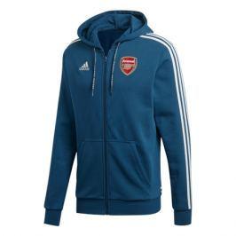 Pánská mikina na zip s kapucí adidas Arsenal FC modrá