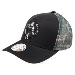 Kšiltovka Mitchell & Ness Squad Camo Snapback NBA Boston Celtics Black
