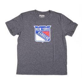 Dětské tričko Levelwear Core Logo NHL New York Rangers tmavě šedé