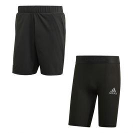 Pánské šortky adidas 2in1 Short Heat.RDY Grey - vel. M