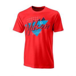 Pánské tričko Wilson Nostalgia Tech Tee Red