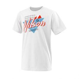 Dětské tričko Wilson Nostalgia Tech Tee White
