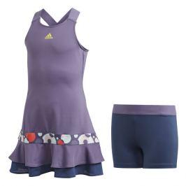 Dívčí šaty adidas Frill Purple - vel. 140