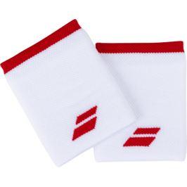 Potítka Babolat Logo Jumbo Wristband White/Red (2 ks)