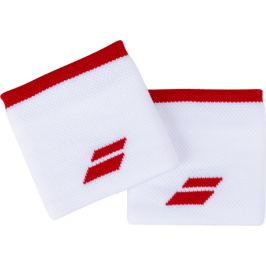 Potítka Babolat Logo Wristband White/Red (2 ks)