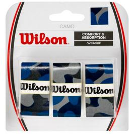 Omotávka na rakety vrchní Wilson Camo Overgrip Blue (3 ks)