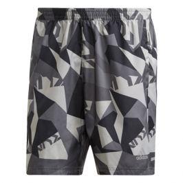 Pánské šortky adidas Run It Camo šedé