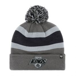 Zimní čepice 47 Brand Breakaway Cuff Knit NHL Los Angeles Kings Retro šedá