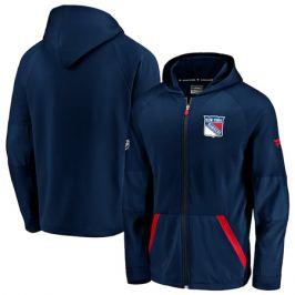 Pánská mikina na zip s kapucí Fanatics Rinkside Gridback Full-Zip Hoodie NHL New York Rangers