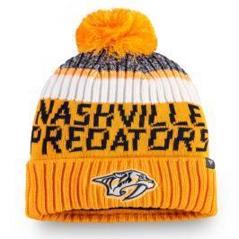 Čepice Fanatics Authentic Pro Rinkside Goalie Beanie Pom Knit NHL Nashville Predators
