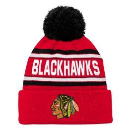 Dětská zimní čepice Jacquard Cuffed Knit With Pom NHL Chicago Blackhawks