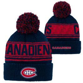Dětská zimní čepice Outerstuff Pattern Jacquard Cuff Pom NHL Montreal Canadiens