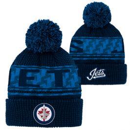 Dětská zimní čepice Outerstuff Pattern Jacquard Cuff Pom NHL Winnipeg Jets
