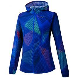 Dámská bunda Mizuno Printed Hoodie Jacket modrá