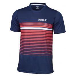 Pánské tričko Joola T-Shirt Stripes Navy/Red