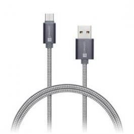 Connect IT Wirez Premium USB/USB-C, 1m (CI-665) stříbrný/šedý