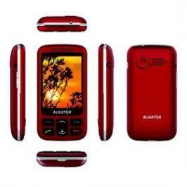 Aligator VS 900 Senior Dual SIM (AVS900RS) stříbrný/červený
