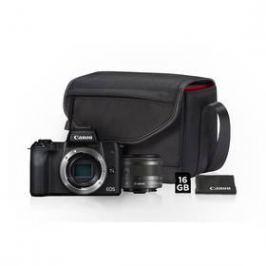 Canon EOS M50 + M 15-45 IS STM + SB130 + 16 GB karta (2680C064) černý